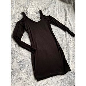 Long Sleeve Black Mini Dress